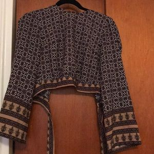 70's style crop top